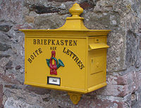 Mailbox with French and German languages, Luxembourg