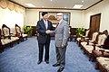 Vicecanciller Marco Albuja se reúne con el MInistro de Relaciones Exteriores de Laos (8410801494).jpg