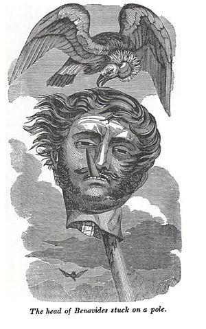 Vicente Benavides - The head of Benavides stuck on a pole