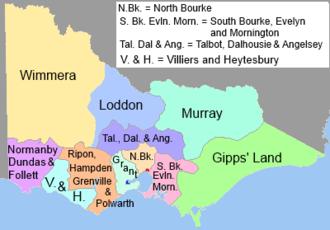 Victorian Legislative Council - VLC electoral districts, 1851–1854