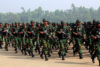Bangladesh Armed Forces - Bangladesh Army during Victory Day Parade 2011