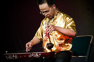 Đàn bầu - Image: Vietnamese musical instrument Dan bau 2