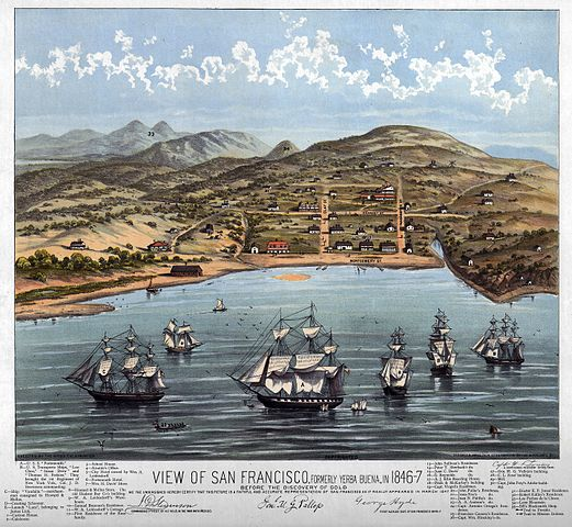 Vista de San Francisco, en 1846-1847.