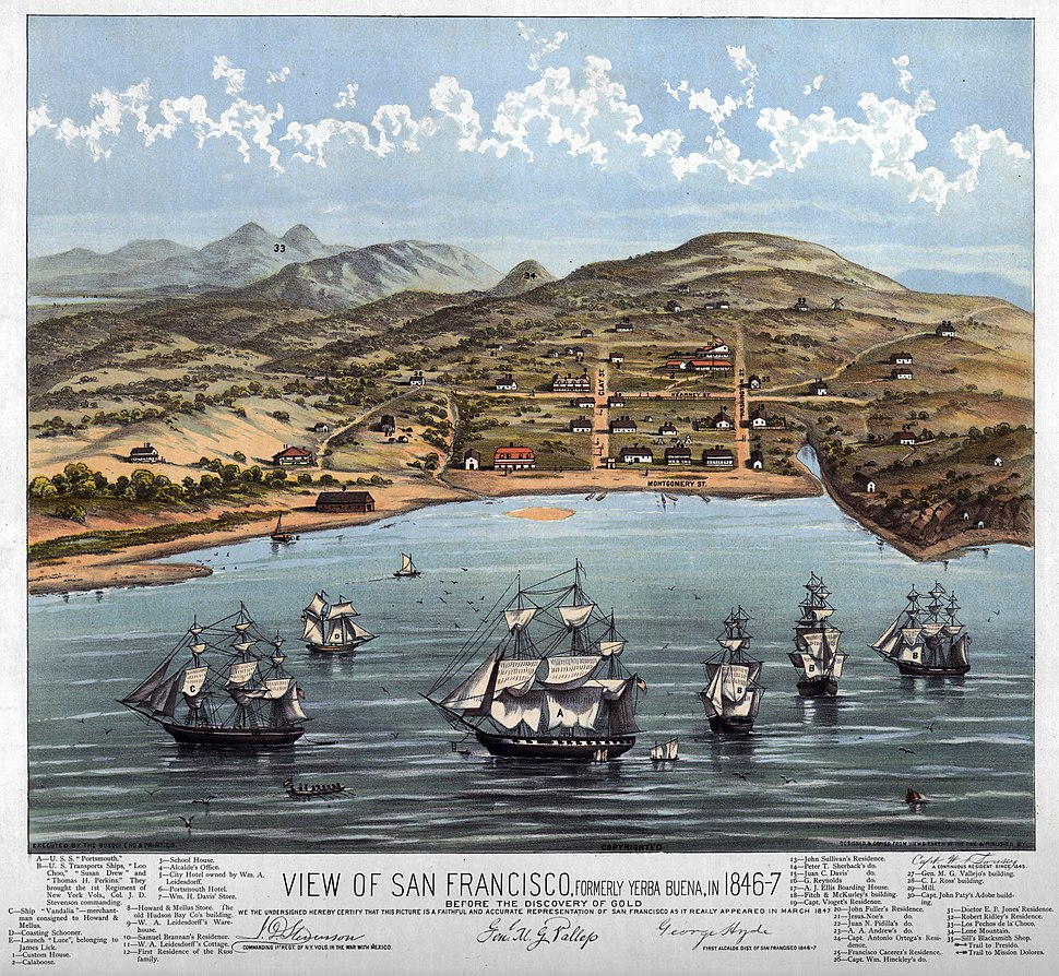 View of San Francisco 1846-7