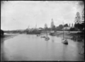 View of Whangarei showing part of the town, Hatea River, and the SS Kanieri berthed at the town wharf. ATLIB 287807.png