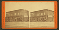 View of a business block with a druggist and a hardware store, from Robert N. Dennis collection of stereoscopic views.png