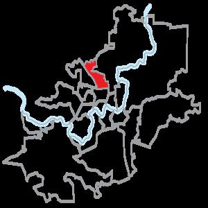 Fabijoniškės - Location of Fabijoniškės eldership within Vilnius