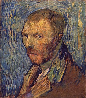 Portraits of Vincent van Gogh - Self-Portrait, à l'oreille mutilé, 1889? (F 528) Oil on canvas, 40 × 31 cm National Gallery, Oslo