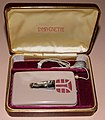 Vintage Beltone Mono-Pac Model S Symphonette Vacuum Tube (Body) Hearing Aid, 3 Sub-Miniature Vacuum Tubes, Made In USA, Circa 1948 (14807634217).jpg