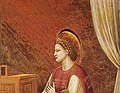 Virgin with halo - Giotto - Scrovegni - -15- - The Virgin Receiving the Message (cropped).jpg