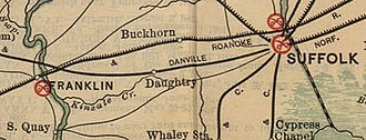 Joint Expedition against Franklin - Image: Virginia Battle Field map JEAF extract