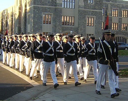 Virginia Tech Corps of Cadets marching Virginia Tech Corps marching.jpg