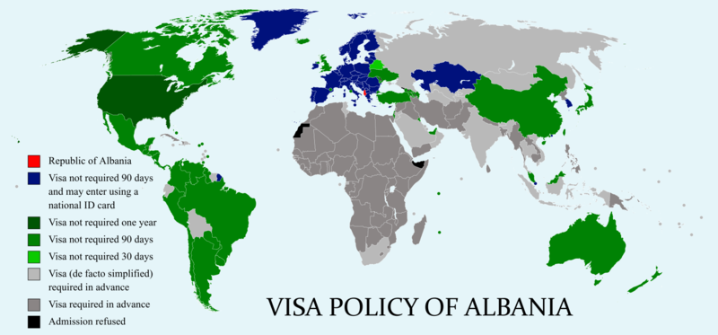 File:Visa policy of Albania.png