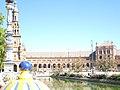 Vista de la plaza de Espana en Sevilla.JPG