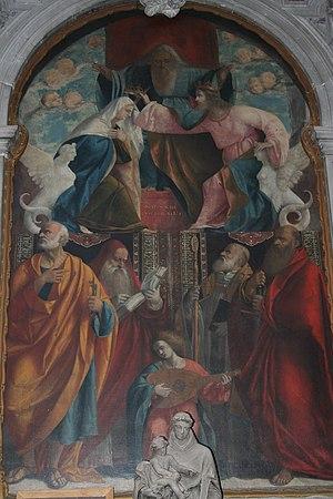 Vittore Belliniano - Incoronazione della Vergine, SS. Vito e Modesto church, Spinea (1524)