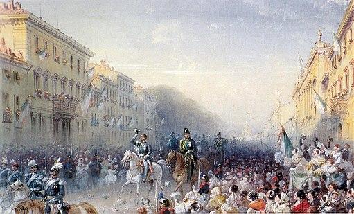 Vittorio Emanuele II entra a Milano