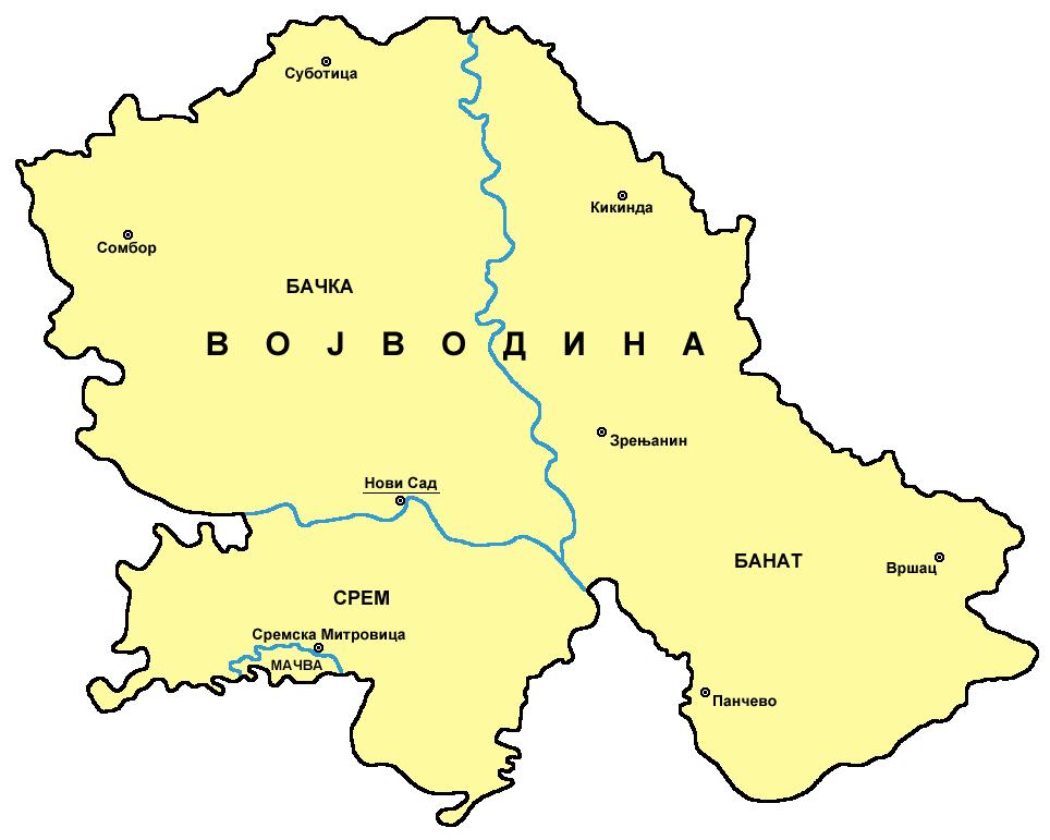 Vojvodina karta