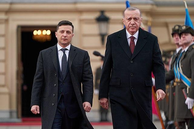 Президент Украины Владимир Зеленский и президент Турции Реджеп Тайип Эрдоган. Киев. февраль 2020г.