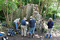 Volunteers of the Kings Weston Action Group record the ruins of Penpole Lodge on the Kings Weston estate.jpg