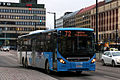 Volvo B8RLE 8900LE tri-axle bus in Hakaniemi, Helsinki.JPG