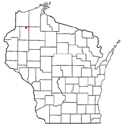Vị trí trong Quận Washburn, Wisconsin