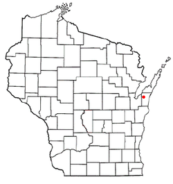Location of Luxemburg, Wisconsin