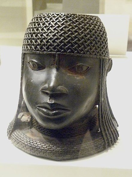 "Brass ""Benin bronze"", Nigeria WLA metmuseum Head of an Oba 16th century.jpg"