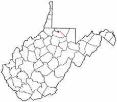 Location of Fairview, West Virginia