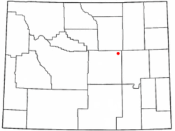 Location of Edgerton, Wyoming