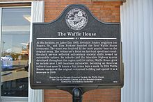 Plaque Commemorating The First Waffle House Restaurant