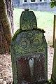 Waibstadt - Jüdischer Friedhof - Neuer Teil Reihe 1 - Grab mit stilisierten Kränzen 1.jpg