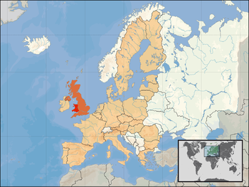 Wales location in the EU.