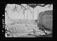 Walling up of one of the main str(eet)s in Old City between Jewish & Arab Qu(arters) LOC matpc.19058.jpg
