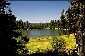 Ochoco Mountains - Walton Lake and meadow in the Ochoco Mountains