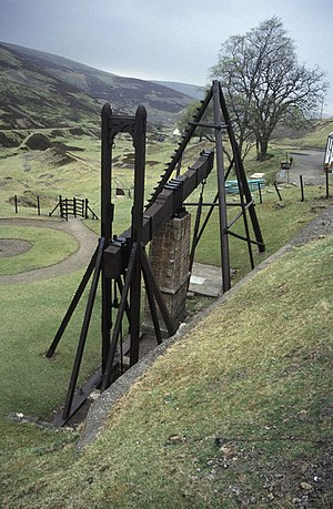 Susannite - An old beam engine to dewater a lead mine at nearby Wanlockhead