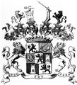 Wappen der Grafen von Wallis auf Carrighmain 1724.png
