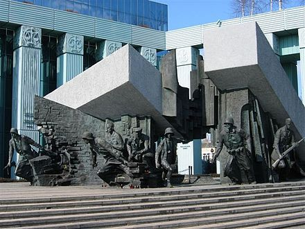 Monument to the Heroes of the Warsaw Uprising in Poland. Warsaw wwII 1.jpg