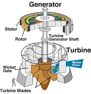 Hydraulic turbine and electrical generator, cu...