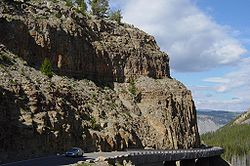 Welded tuff at Golden Gate in Yellowstone.JPG