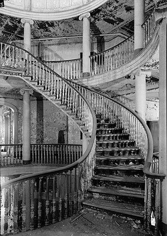 The Octagon (Roosevelt Island) - Image: Welfare island insane asylum STAIRCASE HABS NY,31 WELFI,6 4