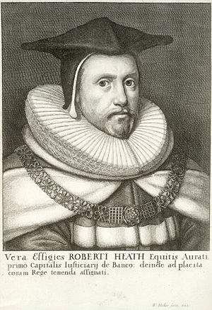 Robert Heath - Image: Wenceslas Hollar Sir Robert Heath (State 2)