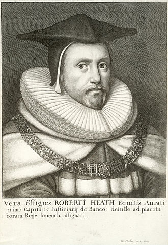 Robert Heath - Image: Wenceslas Hollar Sir Robert Heath (State 2)