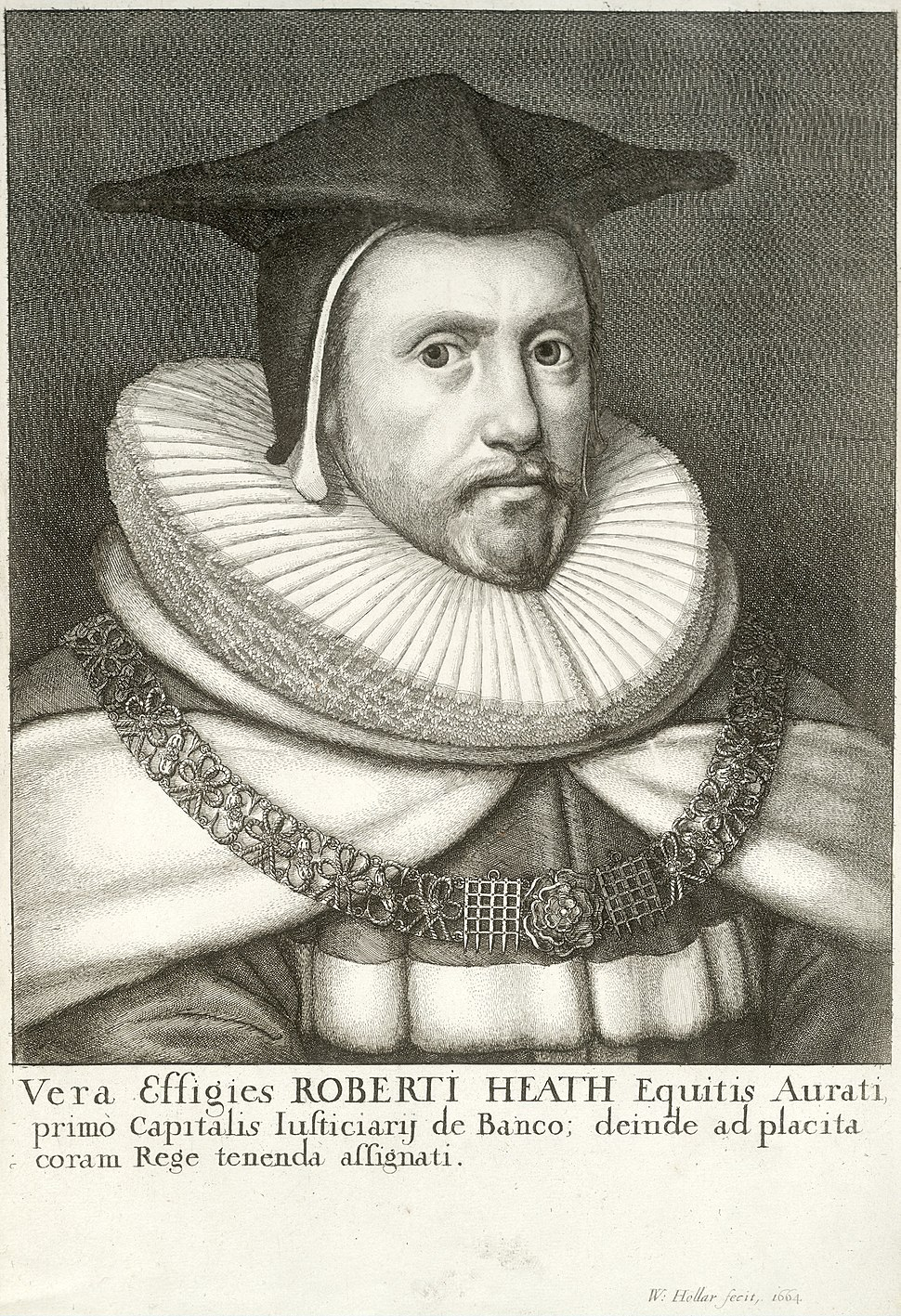 Wenceslas Hollar - Sir Robert Heath (State 2)