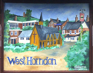 West Horndon - Image: West horndon sign
