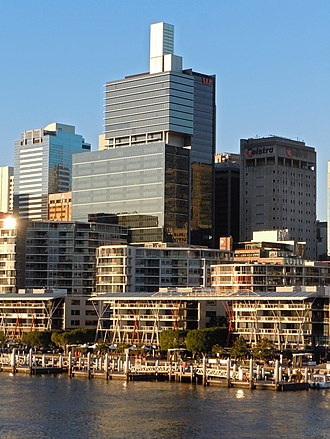Westpac Place - Westpac Place as seen from the Pyrmont Bridge