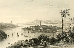 Battle of Whampoa - View of Whampoa Island from Dane's Island