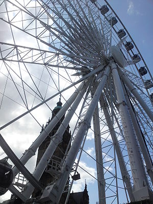 Wheel of Sheffield - A view of the structure from below