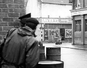 Counter-IED efforts - Wheelbarrow robot on the streets of Northern Ireland in 1978