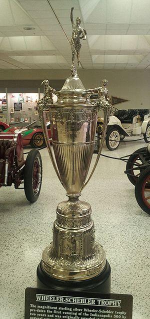 Wheeler-Schebler Trophy Race - The trohpy on display at the Indianapolis Motor Speedway Hall of Fame Museum