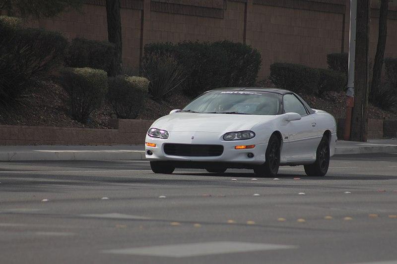 File:White Fourth-Gen Camaro Z28 on W Lone Mountain Rd.jpg